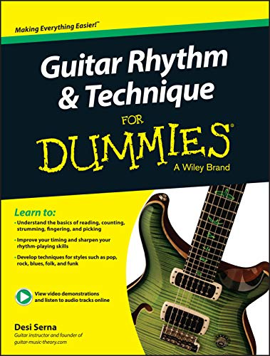 9781119022879: Guitar Rhythm and Technique For Dummies: Book + Online Video & Audio Instruction