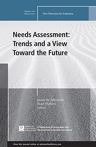 9781119027690: Needs Assessment: Trends and a View Toward the Future: New Directions for Evaluation, Number 144 (J-B PE Single Issue (Program) Evaluation)