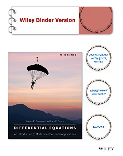 9781119031871: Differential Equations: An Introduction to Modern Methods and Applications 3e Binder Ready Version + WileyPLUS Registration Card