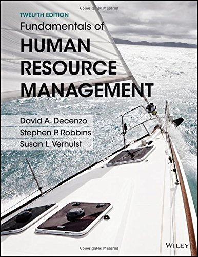 Fundamentals of Human Resource Management, Binder Ready: DeCenzo, David A.,