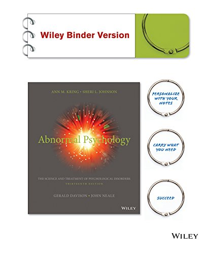 9781119033554: Abnormal Psychology 13e Binder Ready Version + WileyPLUS Learning Space Registration Card