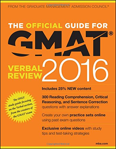 9781119042549: The Official Guide for GMAT Verbal Review 2016 with Online Question Bank and Exclusive Video