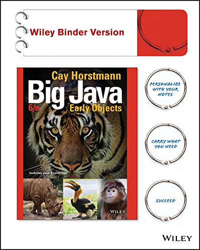 9781119056447: Big Java, Binder Ready Version: Early Objects