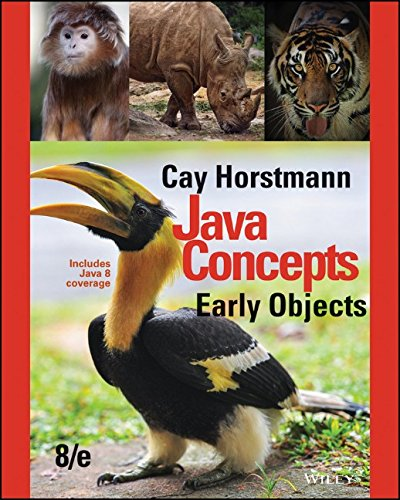 Java Concepts: Early Objects: Horstmann, Cay S.