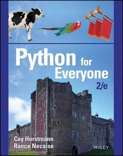Python for Everyone: Horstmann, Cay S.;