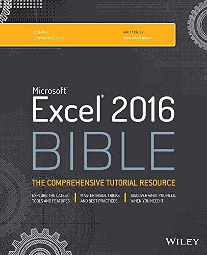 9781119067511: Excel 2016 Bible