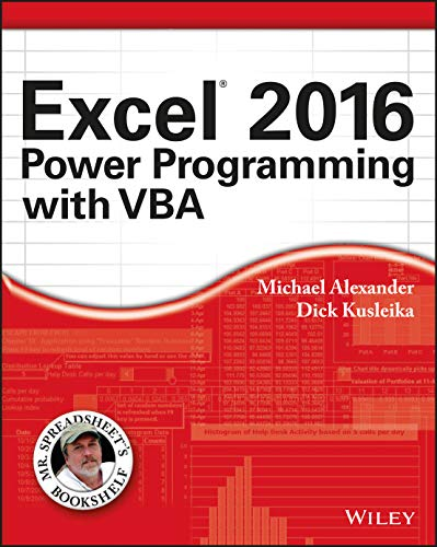 9781119067726: Excel 2016 Power Programming with VBA