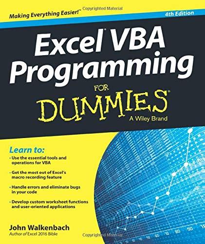 9781119077398: Excel VBA Programming For Dummies