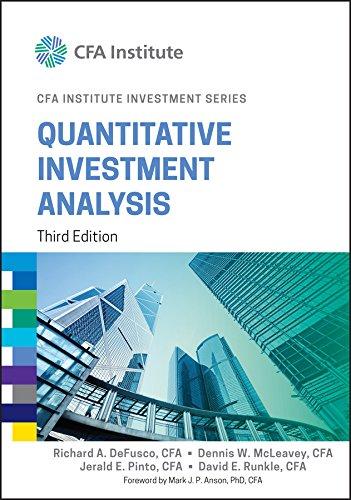 9781119104223: Quantitative Investment Analysis (CFA Institute Investment Series)