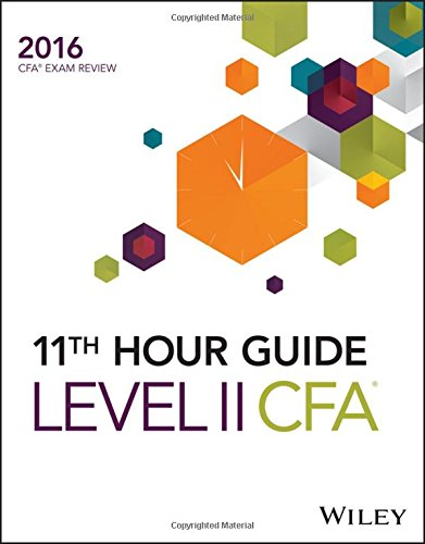 9781119119395: Wiley 11th Hour Guide for 2016 Level II CFA Exam
