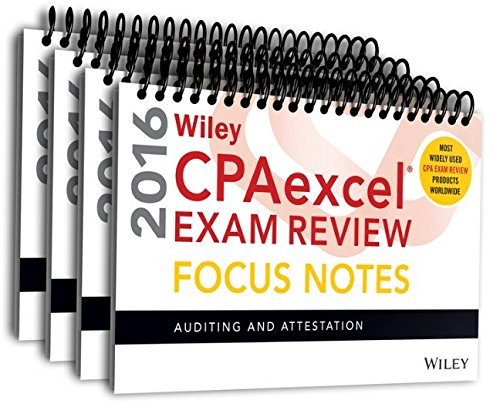 9781119120100: Wiley CPAexcel Exam Review 2016 Focus Notes Set