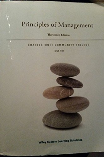9781119132936: Principles of Management