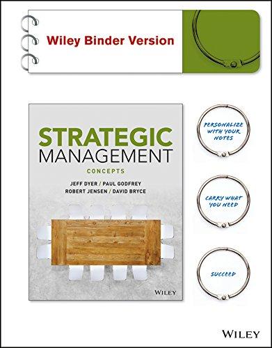 9781119134763: Strategic Management: Concepts BRV