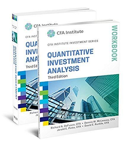 9781119135104: Quantitative Investment Analysis, Book and Workbook Set (CFA Institute Investment Series)