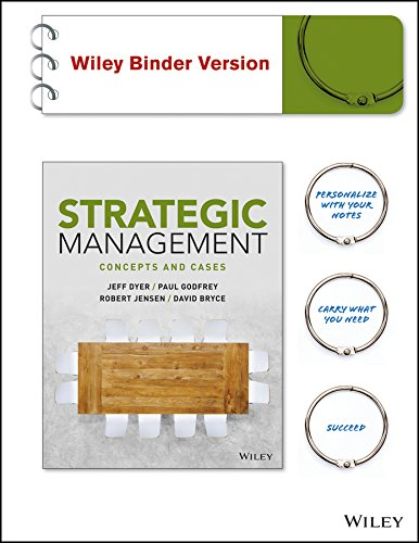 9781119135708: Strategic Management: Concepts and Cases Binder Ready Version + WileyPLUS Learning Space Registration Card