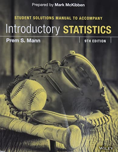 9781119148296: Introductory Statistics Student Solutions Manual
