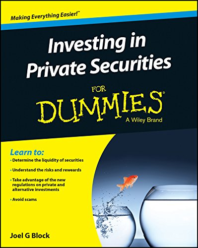 9781119153313: Investing in Private Securities For Dummies