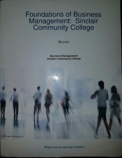 9781119156475: Foundations of Business Management: Sinclair Community College
