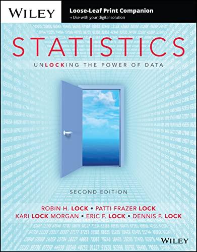 9781119163664: Statistics, Loose-leaf Print Companion: Unlocking the Power of Data - no Wileyplus