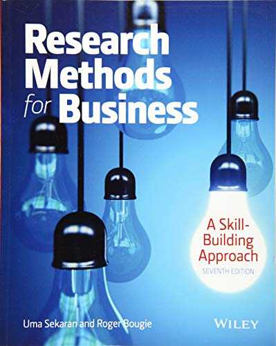 9781119165552: Research Methods for Business: A Skill Building Approach