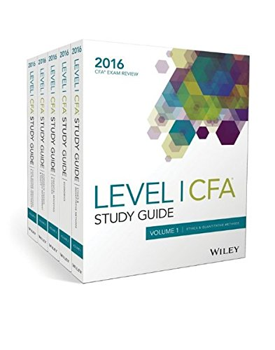 9781119182795: Wiley Study Guide for 2016 Level I CFA Exam: Complete Set