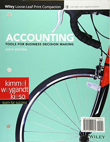 9781119191674: Accounting, Binder Ready Version: Tools for Business Decision Making - Standalone book