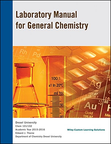 9781119207443: Laboratory Manual for general Chemistry Chem 101/102