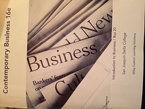 9781119207672: Contemporary Business 16e