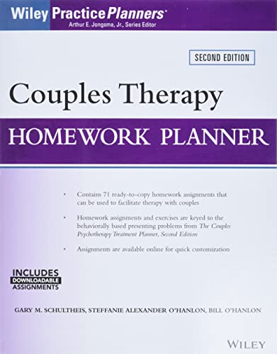 9781119230687: Couples Therapy Homework Planner (Wiley Practice Planners)