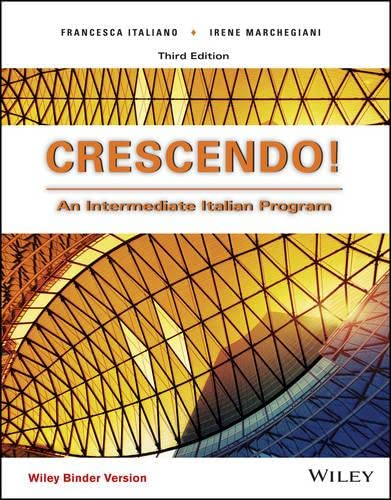 Crescendo!, Binder Ready Version: An Intermediate Italian Program (Italian Edition): Francesca ...