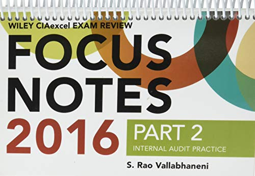 9781119241331: Wiley CIAexcel Exam Review 2016 Focus Notes: Part 2, Internal Audit Practice (Wiley CIA Exam Review Series)
