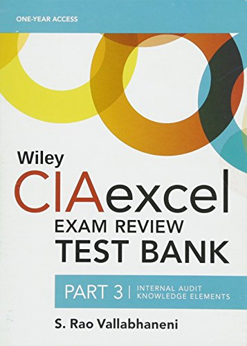 9781119242222: Wiley CIAexcel Exam Review 2016 Test Bank: Part 3, Internal Audit Knowledge Elements (Wiley CIA Exam Review Series)