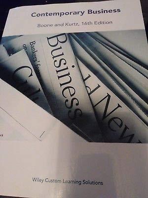 9781119247388: Contemporary Business