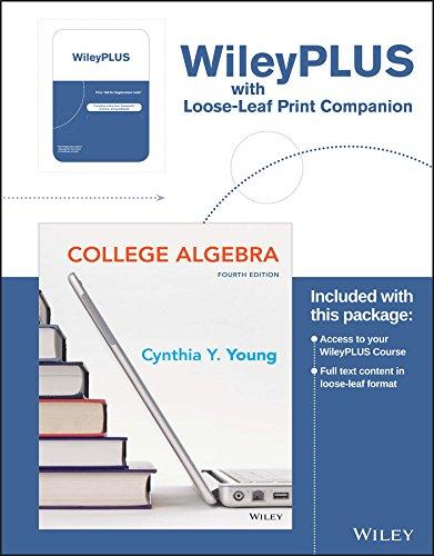 9781119273370: College Algebra Fourth Edition Binder Ready Version