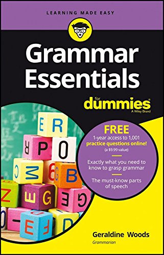 9781119280576: Grammer Essentials for dummies –Free 1-year access to 1001 practice questions online