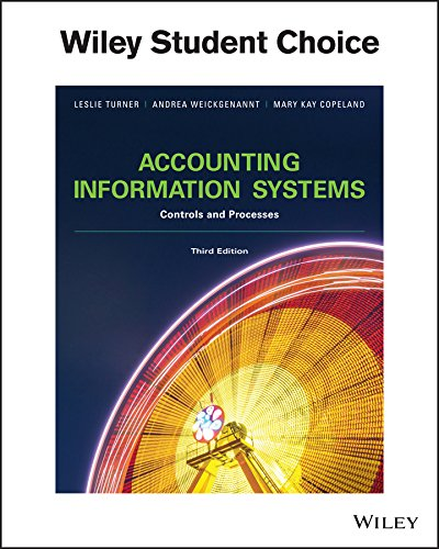 Stock image for Accounting Information Systems: Controls and Processes, 3rd Edition for sale by Better World Books