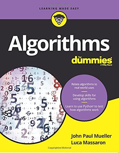 Algorithms For Dummies (Paperback): John Paul Mueller,