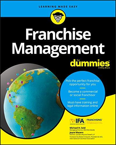 9781119337287: Franchise Management For Dummies
