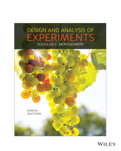 9781119386100: Design and Analysis of Experiments