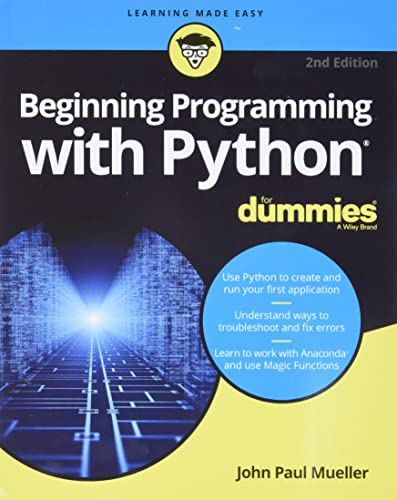 9781119457893: Beginning Programming With Python for Dummies