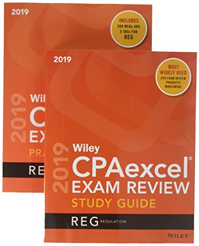 9781119535706: Wiley CPAexcel Exam Review 2019 Study Guide + Question Pack: Regulation