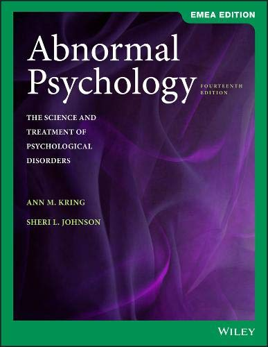 9781119586302: Abnormal Psychology: The Science and Treatment of Psychological Disorders