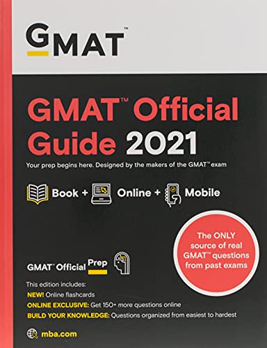 9781119687825: GMAT Official Guide 2021: Book + Online Question Bank (Gmat Official Guides)