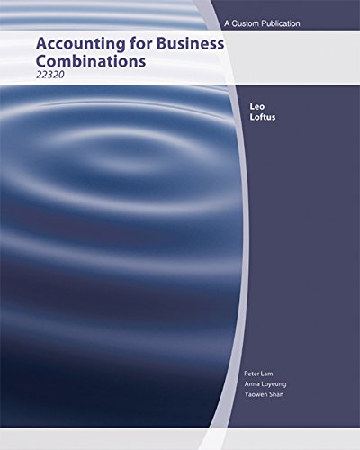 Aucs) Accounting for Business Combinations for University of Technology Broadway (Black & White...