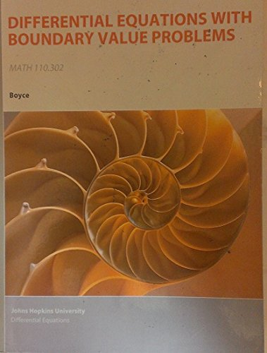 9781119925064: Elementary Differential Equations and Boundary Value Problems, 10th Edition. For Johns Hopkins University MATH 110.302