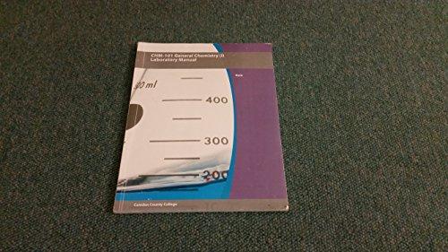 9781119937944: Chm-101 General Chemistry (I) Laboratory Manual