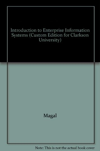 9781119938293: Introduction to Enterprise Information Systems (Cu