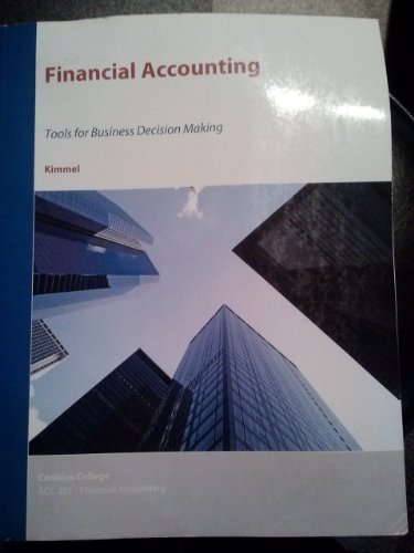 9781119939559: ACC 201 Financial Accounting ISBN 9781119939559 (Canisius College Goldstein custom)