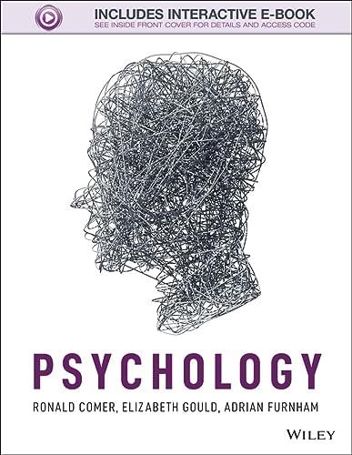 Psychology: Comer, Ronald; Gould, Elizabeth; Furnham, Adrian
