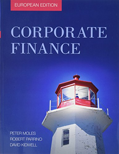Corporate Finance - WileyPlus Card Set (Paperback): Peter Moles